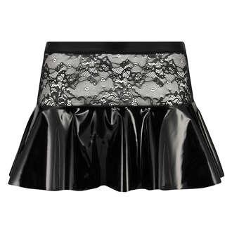 Private peplum skirt, Black