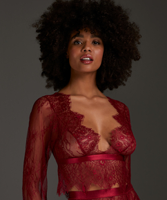 All-over Lace Top, Red