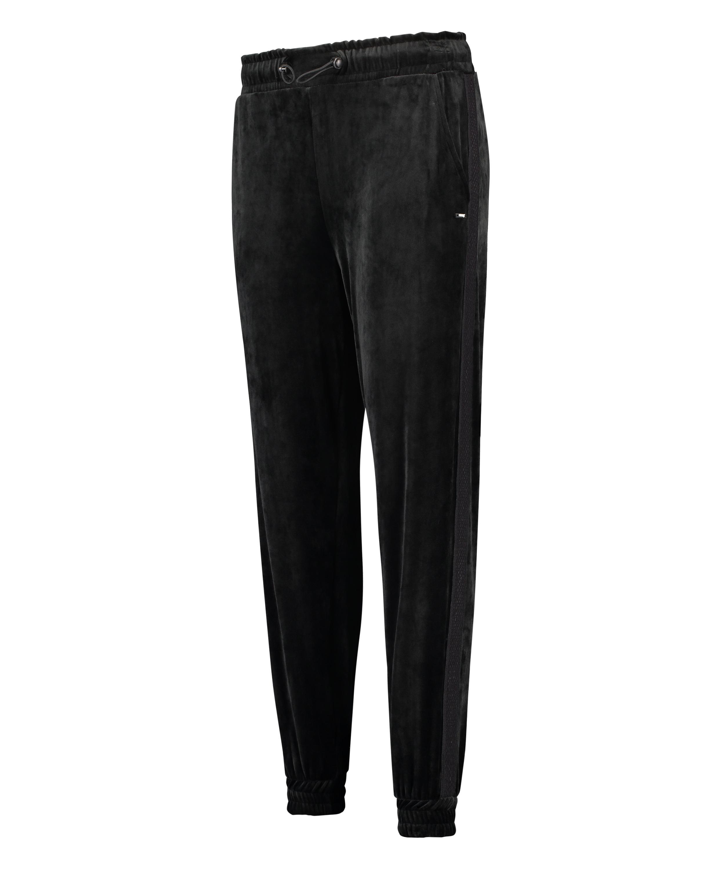 HKMX Sport pants Velours, Black, main