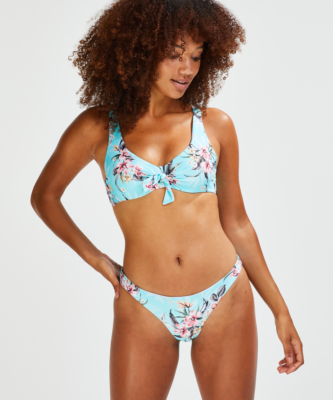 Bea brazilian bikini bottoms, Blue, main
