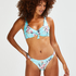 Bea brazilian bikini bottoms, Blue