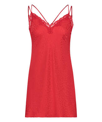 Hearts slip dress, Red
