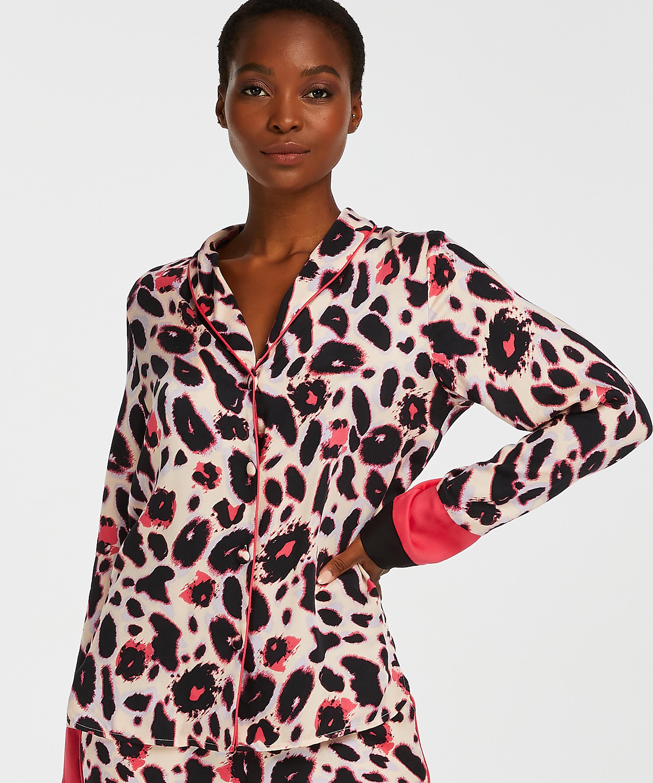 Duckie Long-sleeve Pyjama Jacket, Pink, main