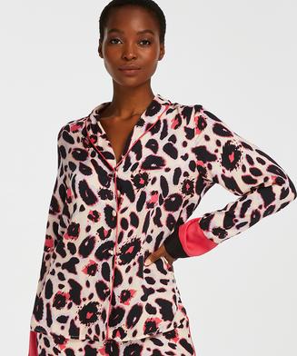 Duckie Long-sleeve Pyjama Jacket, Pink