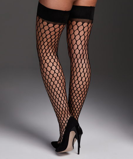 Private Stay-up Fishnet Big Sexy, Black