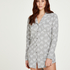 Heart Pyjama Top, Grey
