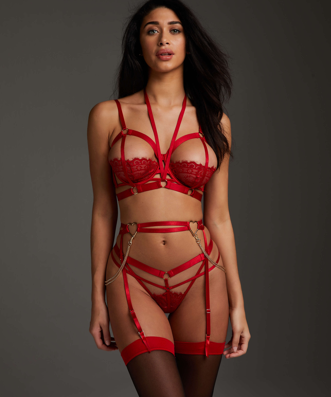 Heart suspender, Red, main