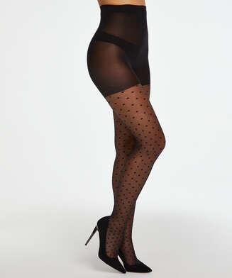 Dot 15 Denier tights, Black