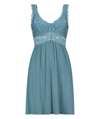 Nora Lace Slip Dress, Green