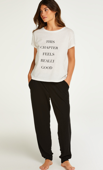 Quote Short-Sleeved Top, White