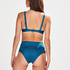 Sunset Dream High Bikini Bottoms, Blue