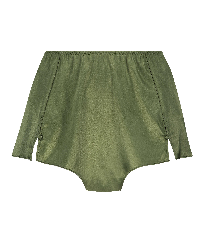 Amelia Tap Satin Shorts, Green, main