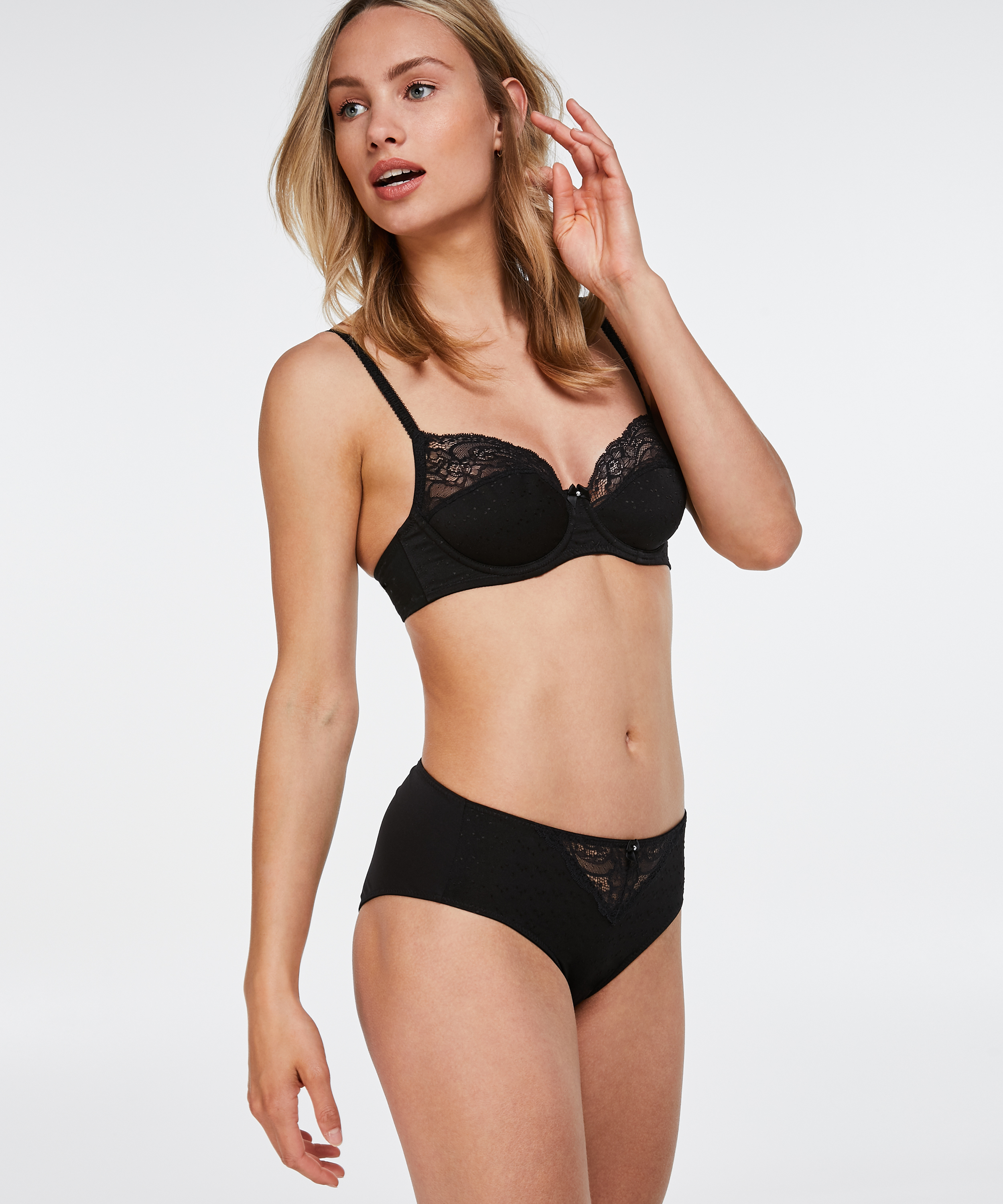 Sophie high knickers, Black, main