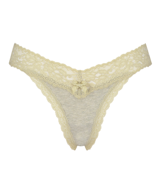 Cotton extra low thong, Green