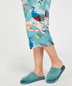 Velours slippers, Blue