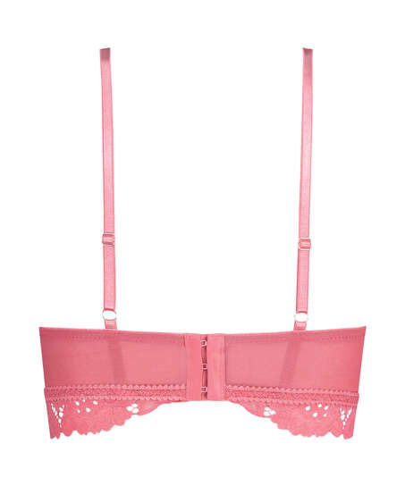 Shiloh Padded Longline Non-Underwired Bra , Pink