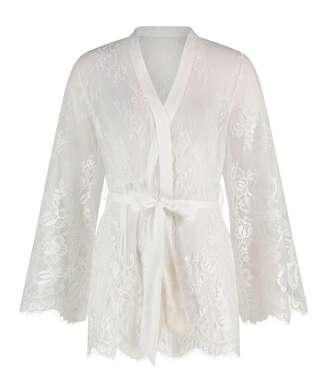 Isabelle Lace Kimono, White