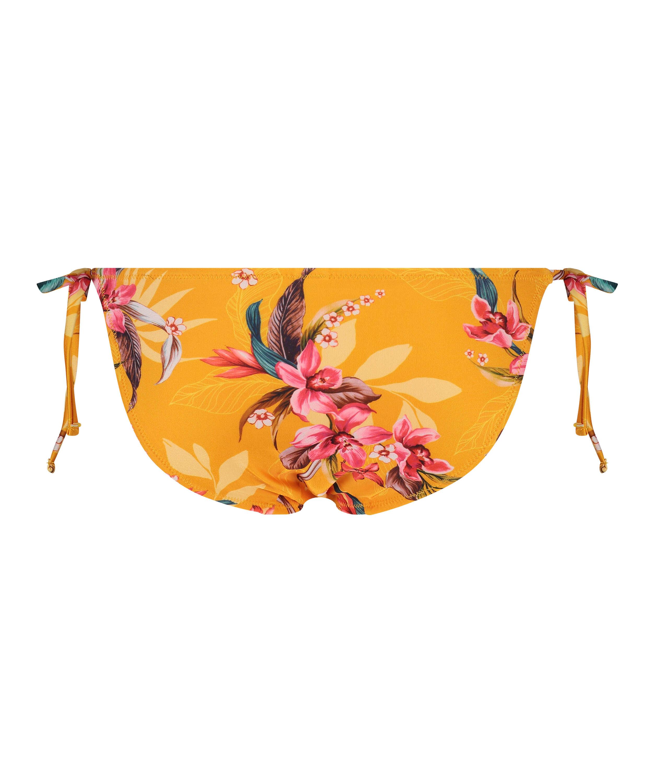 Orchid Brazilian tanga bikini bottoms, Yellow, main