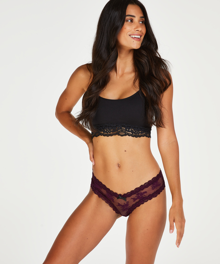 V-shaped Brazilian mesh, Purple