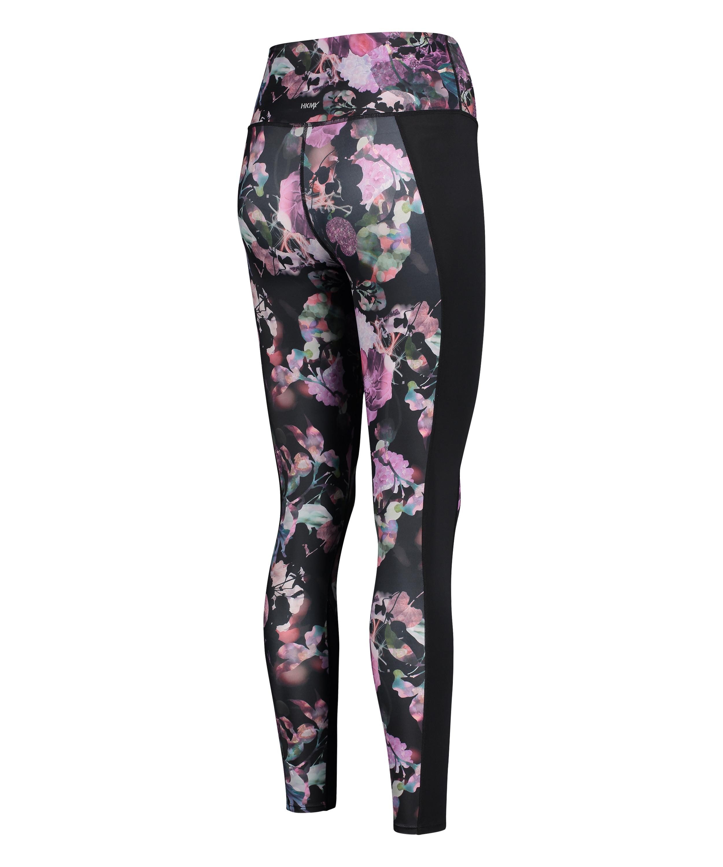 HKMX high waisted sport leggings, Black, main