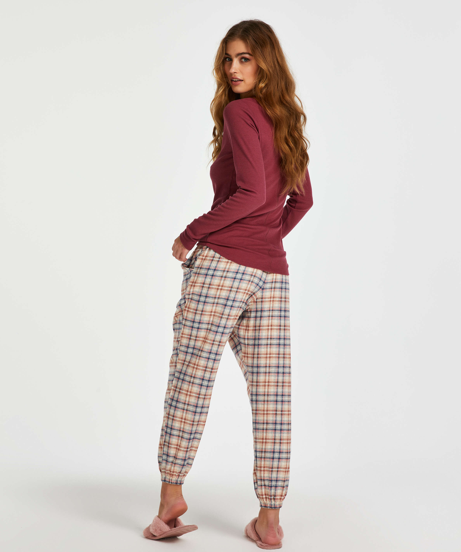 Long-Sleeved Pyjama Top , Red, main