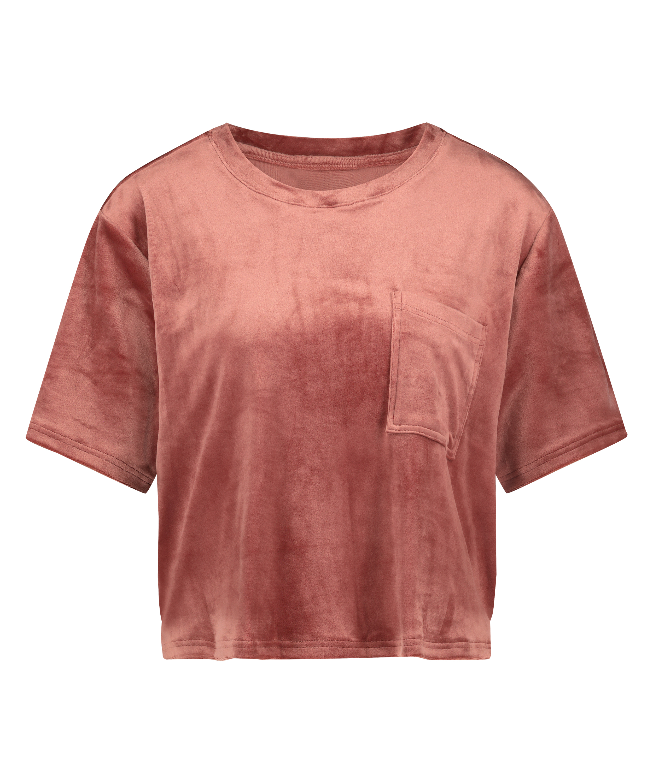 Top Velours Pocket, Pink, main
