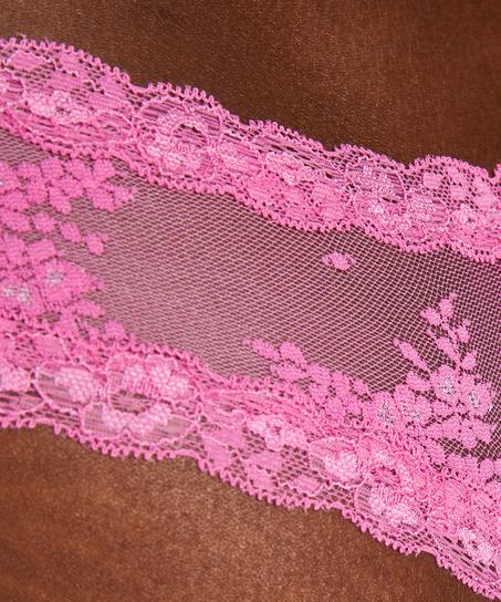 V-shaped Brazilian knickers mesh, Pink