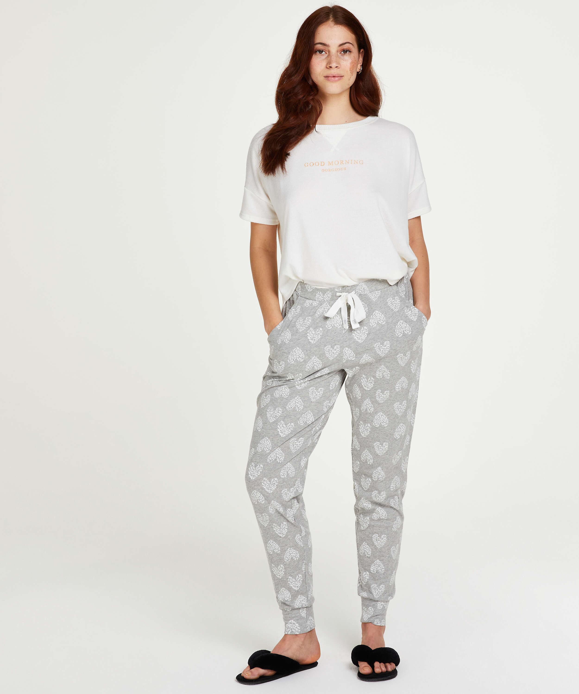 Jersey pyjama bottoms, Grey, main