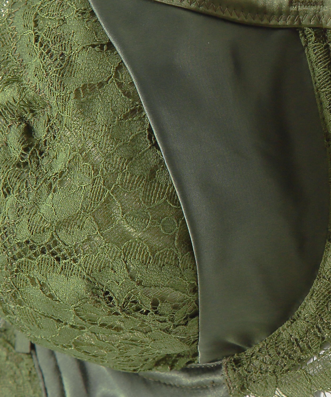 Hannako non-padded underwired bra, Green, main