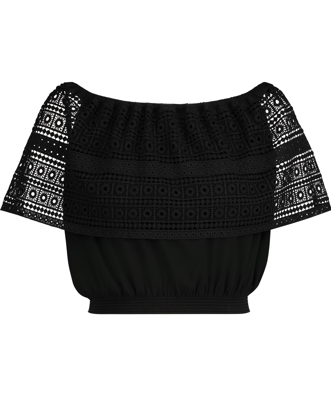 Crochet top, Black, main