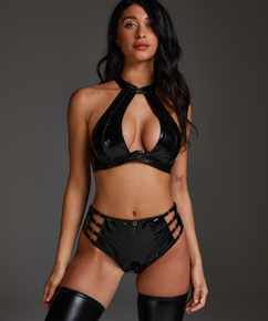 Seductress open crotch Brazilian, Black