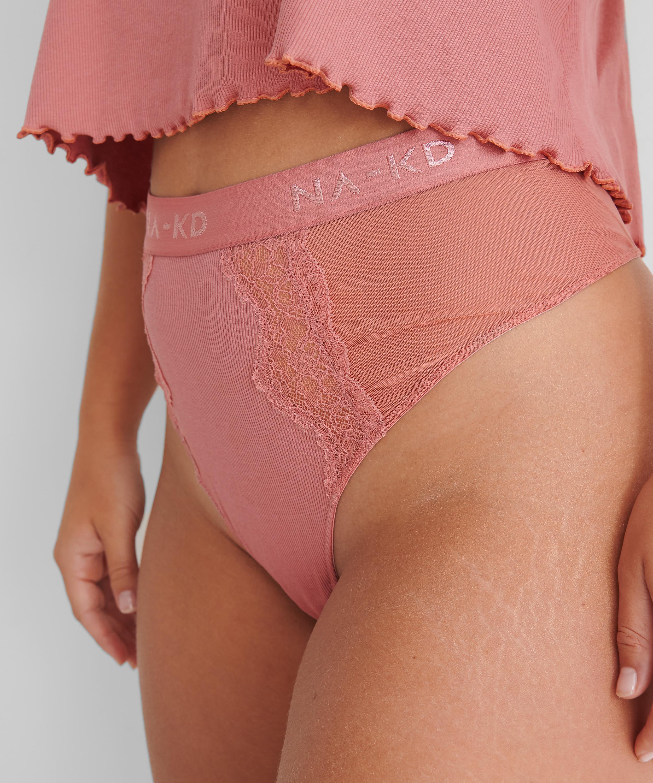 High leg thong Amalia HKM x NA-KD, Pink, main