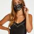 Satin mask, Black
