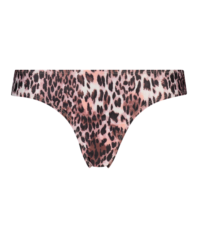 Leopard Rio bikini bottom, Black, main