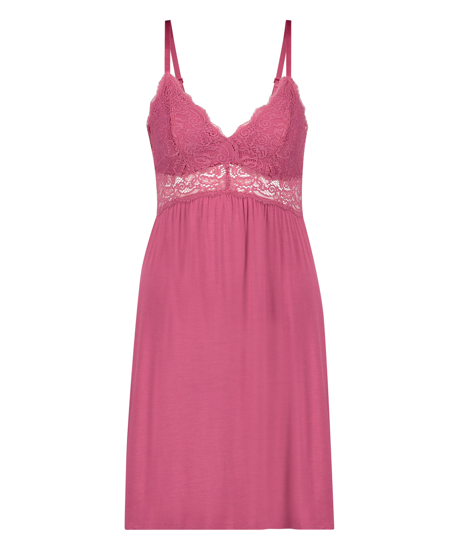 Vera jersey lace slip dress, Pink, main