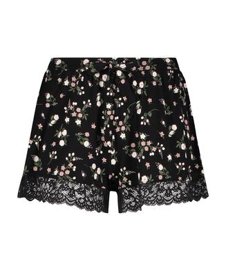 Ditzy Flower shorts, Black