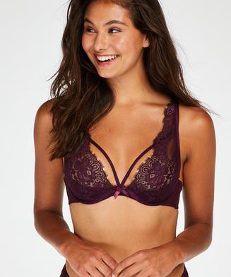 Latisha Non-Padded Underwired Bra, Purple