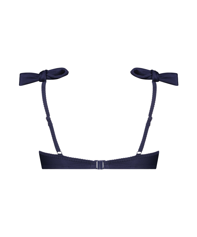 Padded underwired bikini top Harper, Blue, main