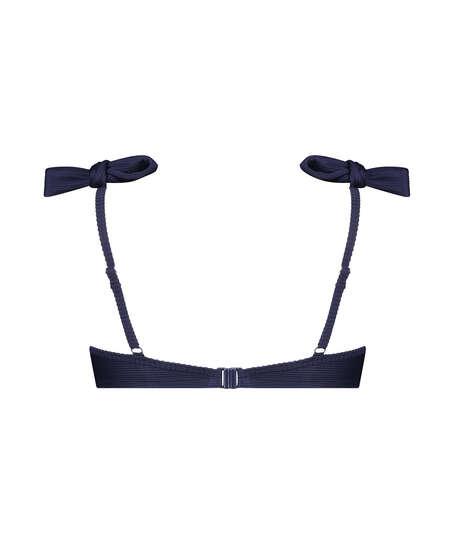 Padded underwired bikini top Harper, Blue