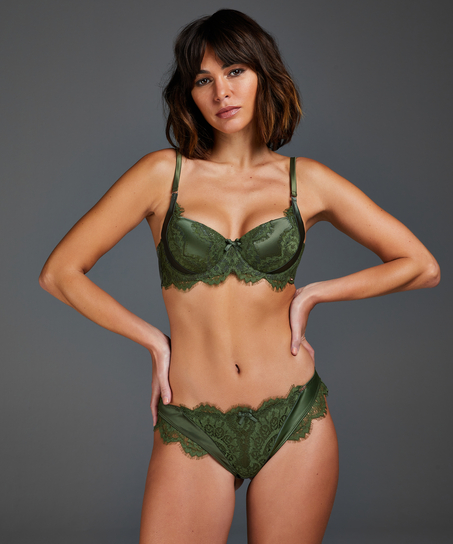 Hannako padded underwired bra, Green