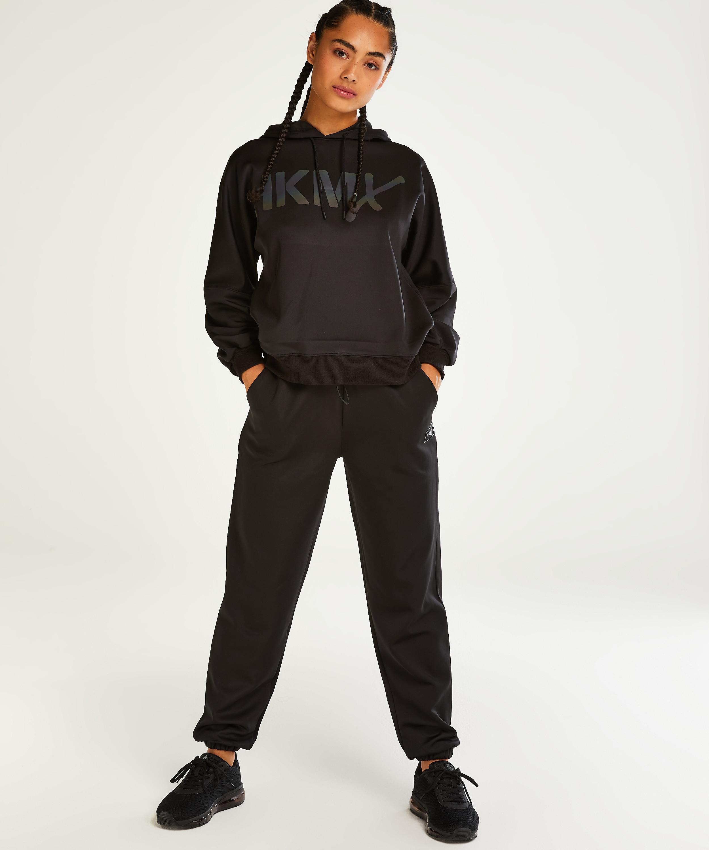 HKMX Ruby High Waisted Joggers, Black, main
