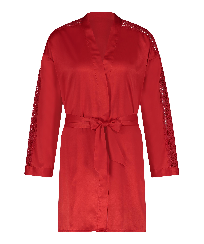 Satin Kimono, Red, main