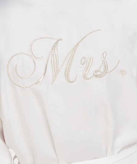 Kimono satin Bridal, White