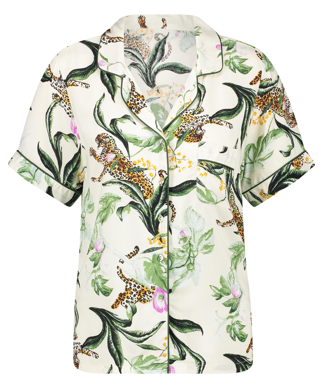 Print short sleeve Pyjama Top, Pink, main