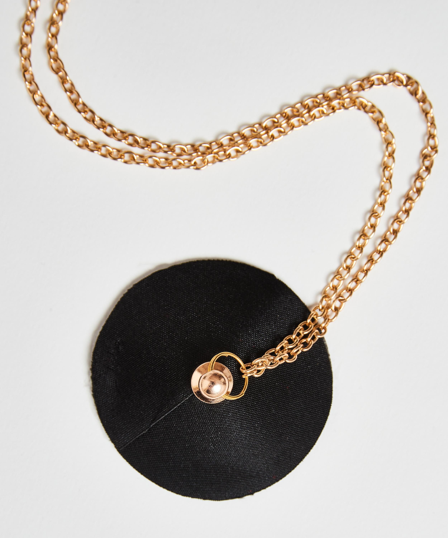 Private Nipple Cover chain, Black, main