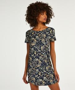 Short Sleeved Jersey Nightshirt, Blue