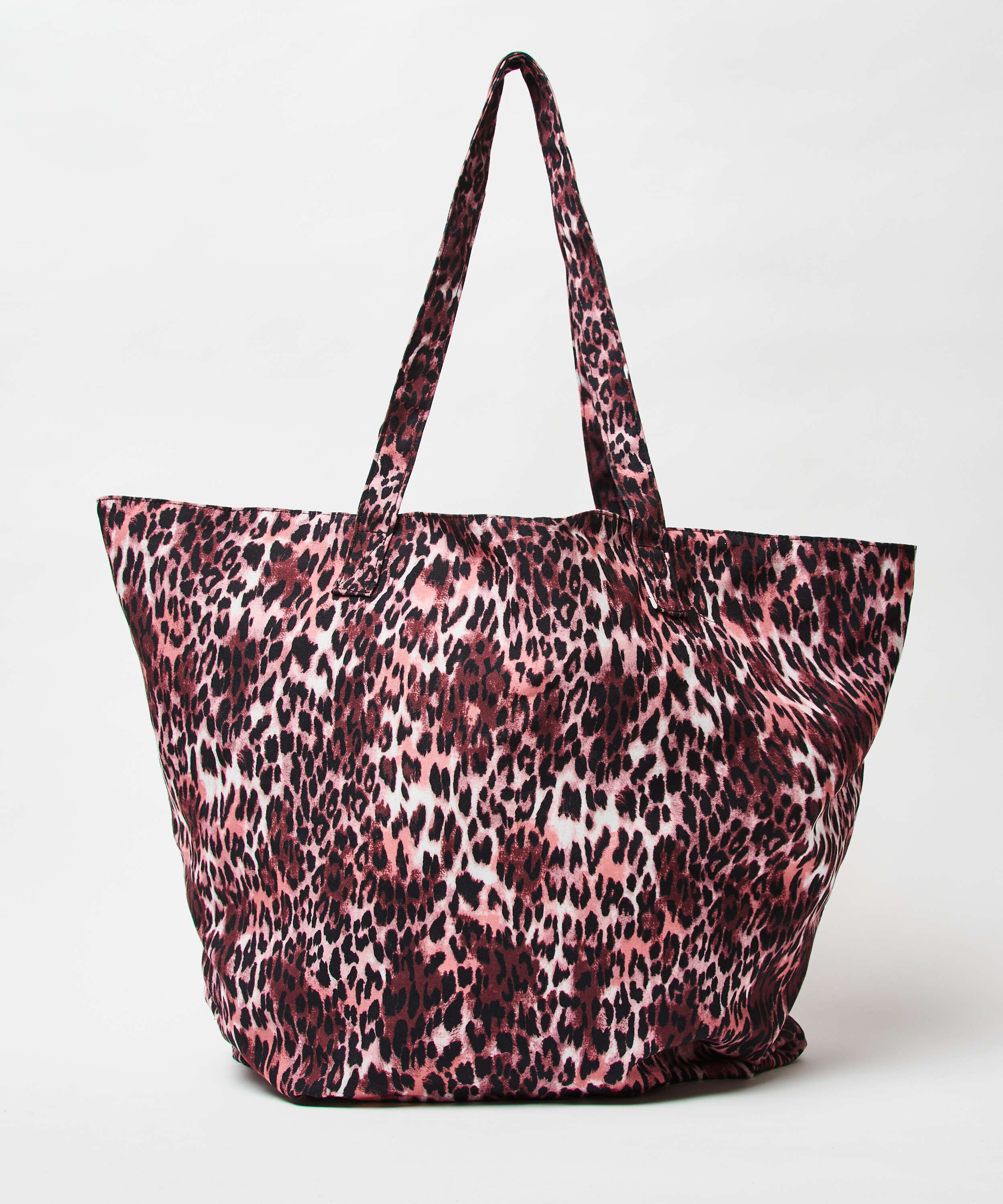 Leopard beach bag, Brown, main