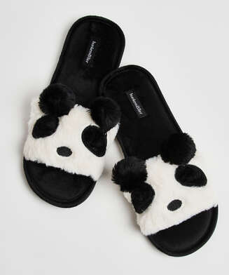 Panda slippers, Black