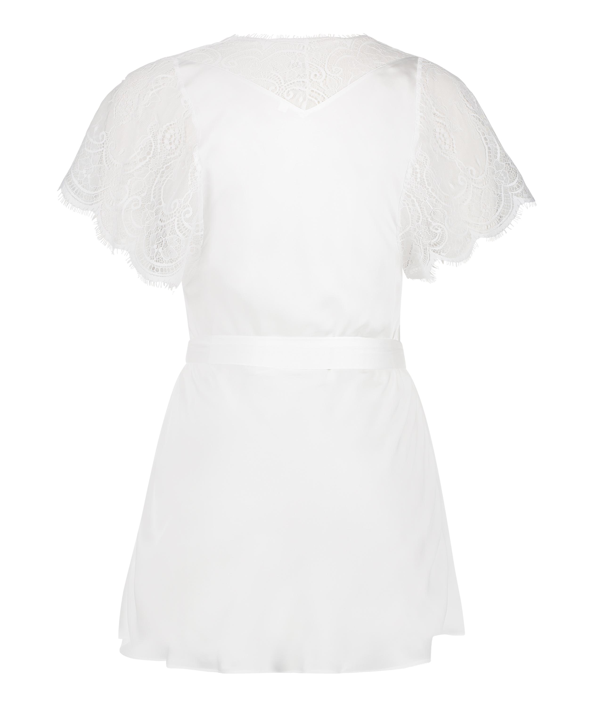 Cap Sleeve Kimono, White, main