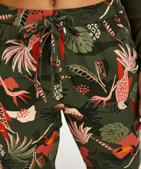 Tall Jersey Pyjama Pants, Green